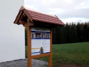 Bild von der Informationstafel vor Roßbergkapelle