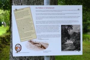 Bild vom Flößerschild auf dem Festgelände Heilig Garten