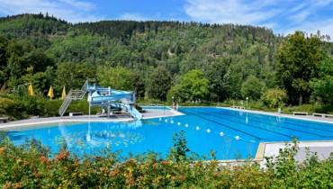Bild von Schwimmbad Blick von Eingang