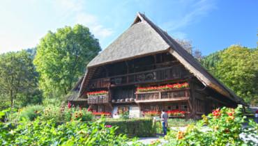 Bild eines Hofes im Vogtsbauernhof Gutach