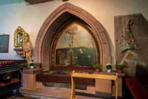 Bild vom Grab der seligen Lutigard in Wittichen