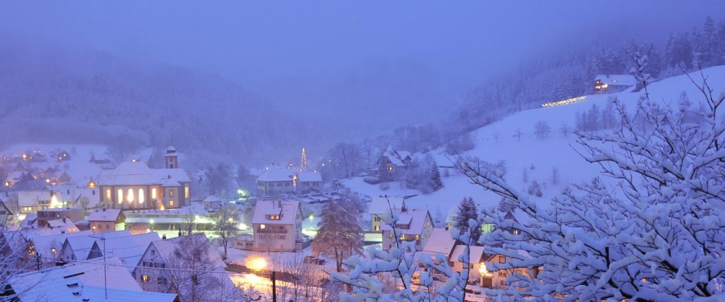 Winterblick Schenkenzell Dorf