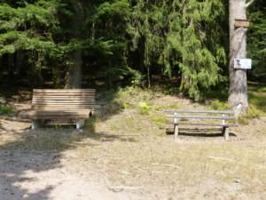 Bild von Ruhebänkle am Wanderweg beim Matteinweiher