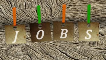 Bild von Buchstaben an Wäscheleine JOBS